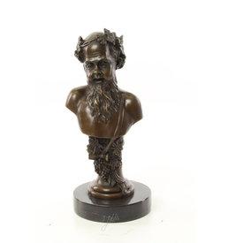 Bronze Bacchus bust