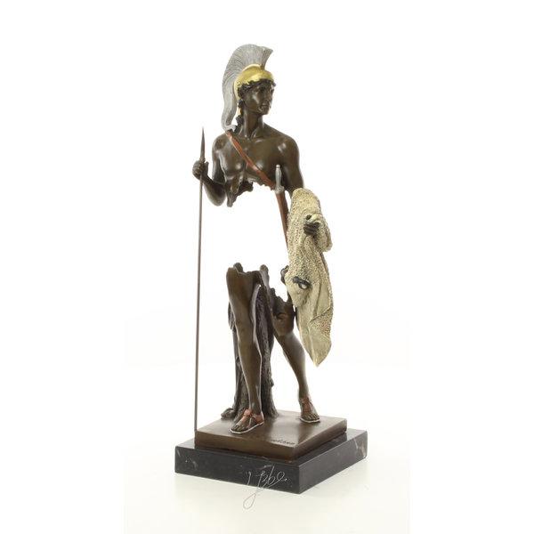Bronzen sculptuur van Jason met het Gulden Vlies