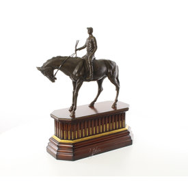 Jockey te paard