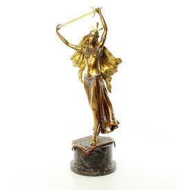 Bronze sword dancer