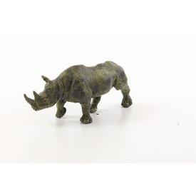 Bronzen neushoorn