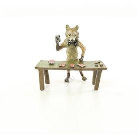 Een vos aan het kaarten