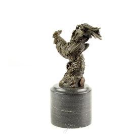 Bronzen haan