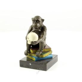 Aap sculptuur van Darwin