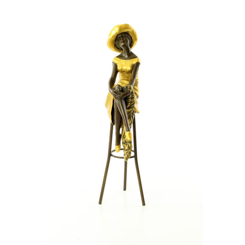 Female on bar stool