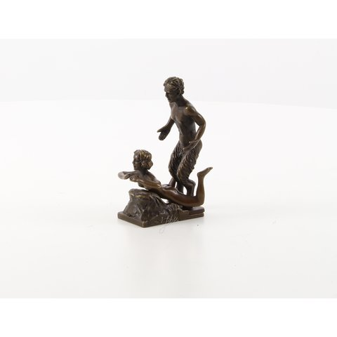 Satyr with nude female