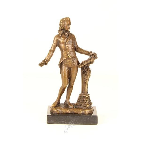 Bronze sculpture of Ludwig van Beethoven