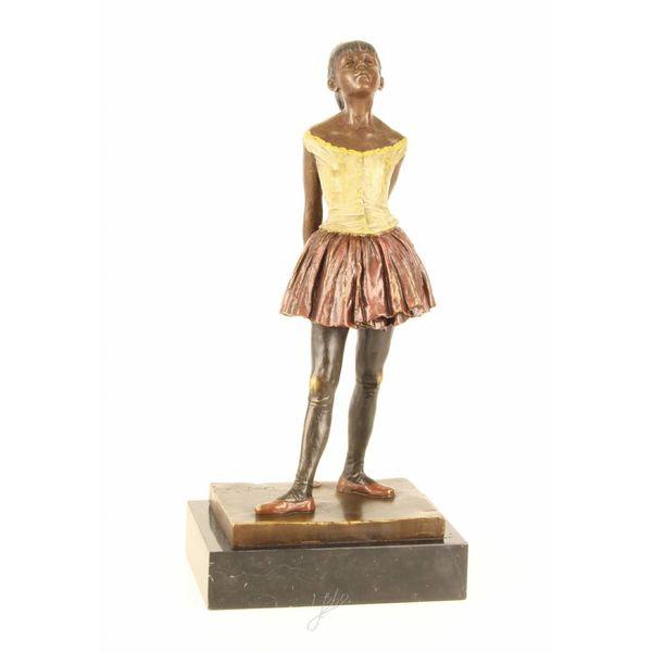 Bronze sculpture of the dancer aged fourteen