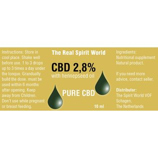 The Real Spirit World 10ml CBD olie 2,8% The Real Spirit World