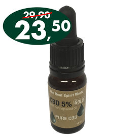The Real Spirit World 10ml CBD olie 5% Gold