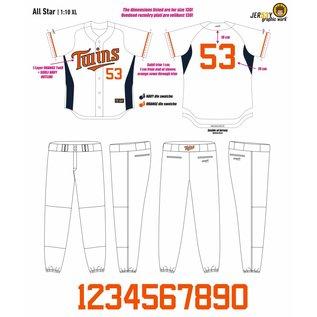 Jersey53 Oosterhout Twins Baseball jersey