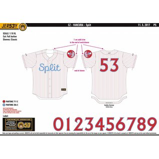 Jersey53 Nada SM Split game jersey - home