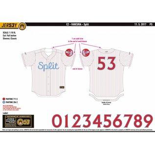 Jersey53 Nada SM Split game jersey - home