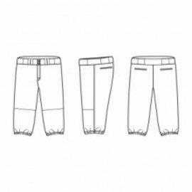 Jersey53 Baseball Pant - 3/4 Knickers - Maroon Piping