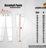 Jersey53 Baseball Pant - straight - Purple Piping
