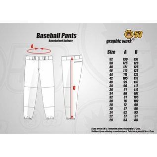 Jersey53 Baseball Pant - straight - Maroon Piping