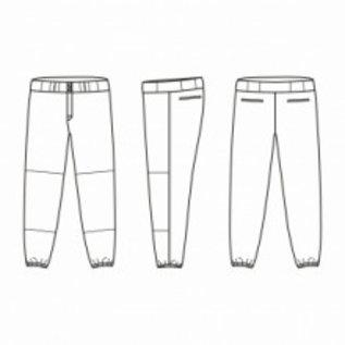 Jersey53 Baseball Pant - regular - Maroon Piping
