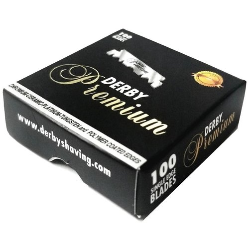 Derby Premium Single Edge Scheermesjes 100 stuks