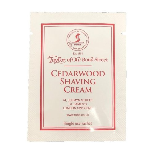 Taylor of Old Bond Street Scheercrème Cedarwood Sample 5 ml
