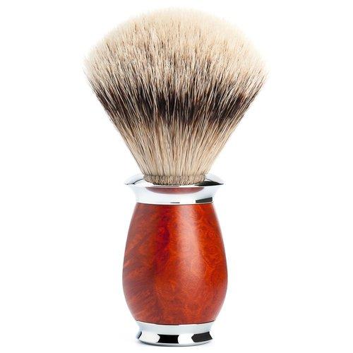 Muhle Scheerkwast Silvertip Purist Briar Hout (M)