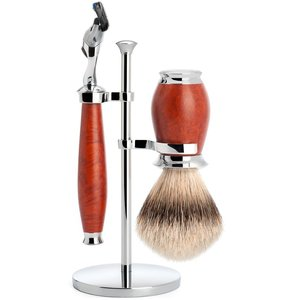 Muhle Scheerset Fusion Purist Briar Hout (3-delig)