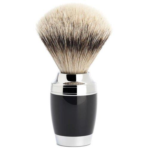 Muhle Scheerkwast Silvertip Stylo Zwart (M)