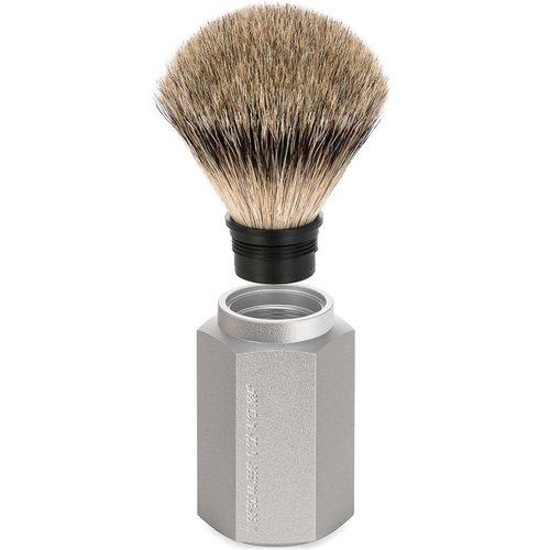 Muhle Scheerkwast Silvertip Hexagon Zilver (M)