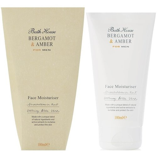 Bath House Face Moisturiser Bergamot & Amber 100 ml