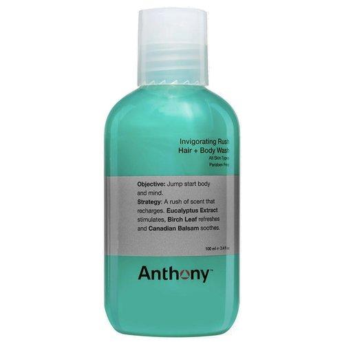 Anthony Invigorating Rush Hair + Body Wash Travel 100 ml