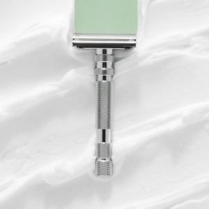 Rockwell Razors T2 Double Edge Safety Razor White Chrome