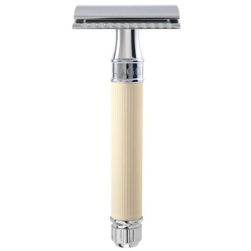 Edwin Jagger Rubber Coating Double Edge Safety Razor Ivoor