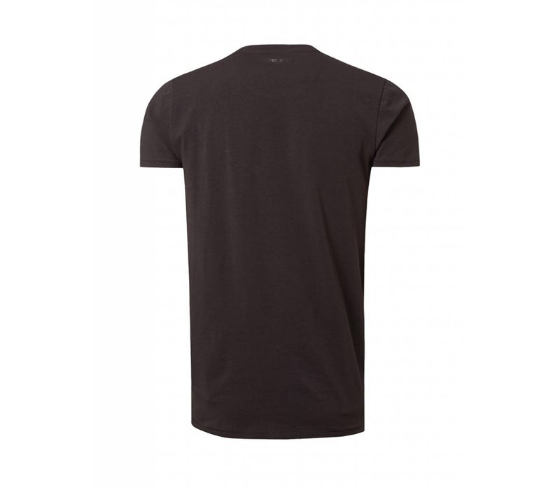 PUREWHITE PRINT T-SHIRT BLACK
