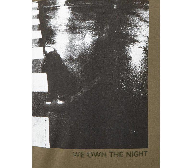 PUREWHITE PRINT T-SHIRT LIGHT ARMY