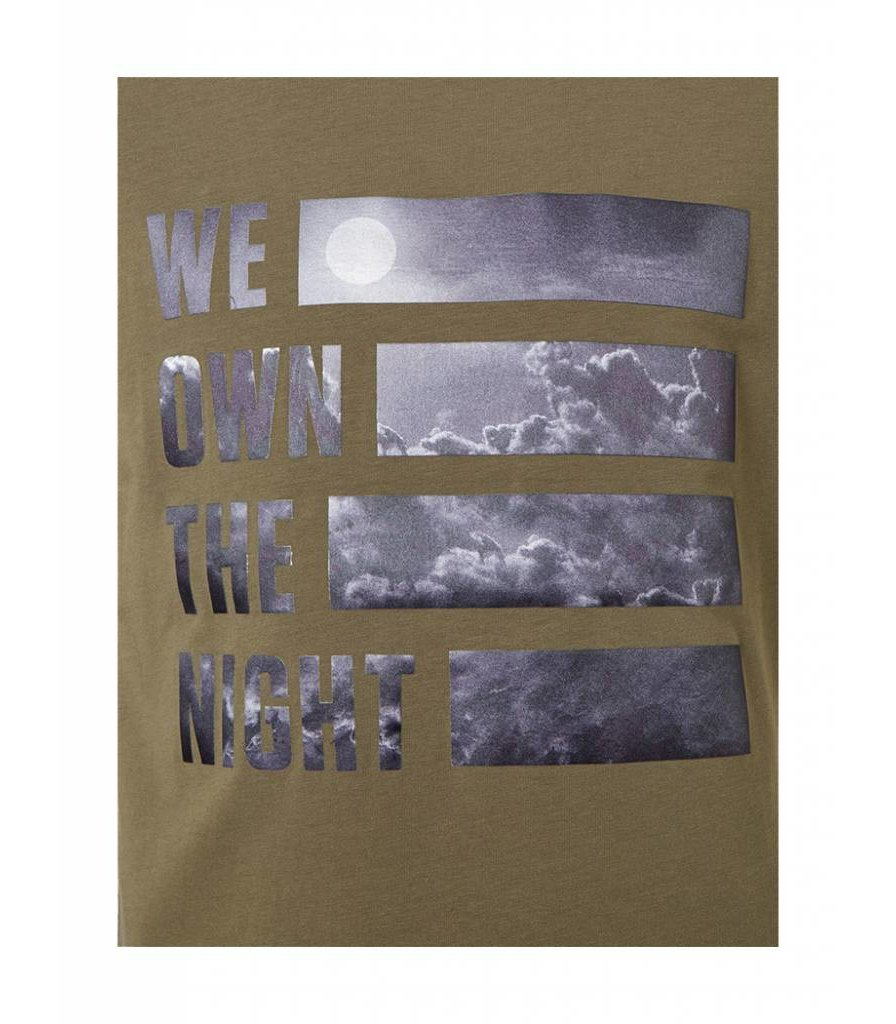 PUREWHITE WE OWN THE NIGHT T-SHIRT LIGHT ARMY