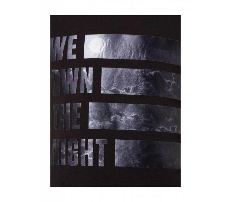 PUREWHITE WE OWN THE NIGHT T-SHIRT BLACK