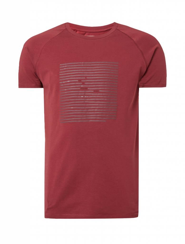 PUREWHITE LINES T-SHIRT BURGUNDY 828c905f8e