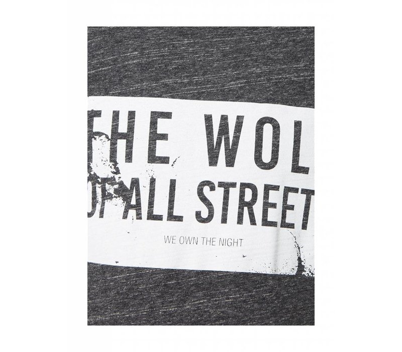 PUREWHITE 'WOLF OF ALL STREETS'  T-SHIRT BLACK