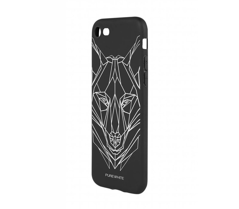 PUREWHITE WOLF IPHONE 7 CASE BLACK