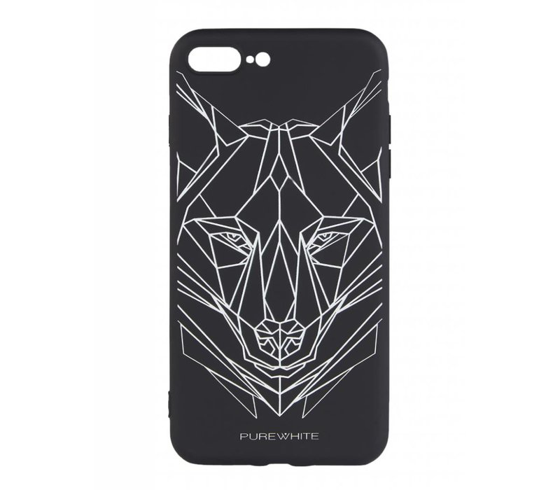 PUREWHITE WOLF IPHONE 7+ CASE BLACK