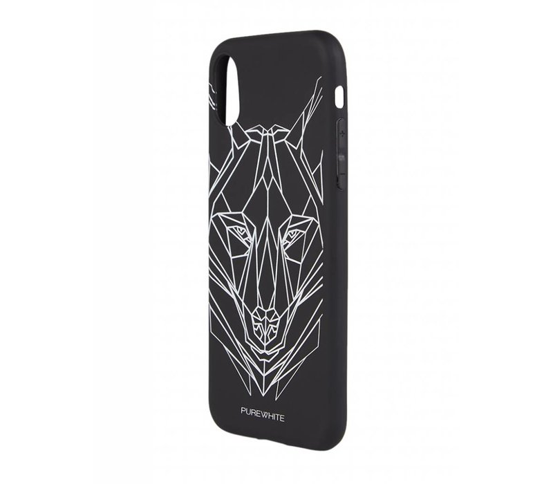 PUREWHITE WOLF IPHONE X CASE BLACK