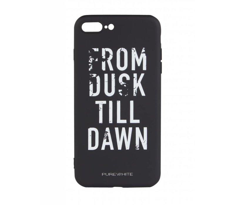 PUREWHITE 'DUSK TILL DAWN' IPHONE 7/8 PLUS CASE  BLACK