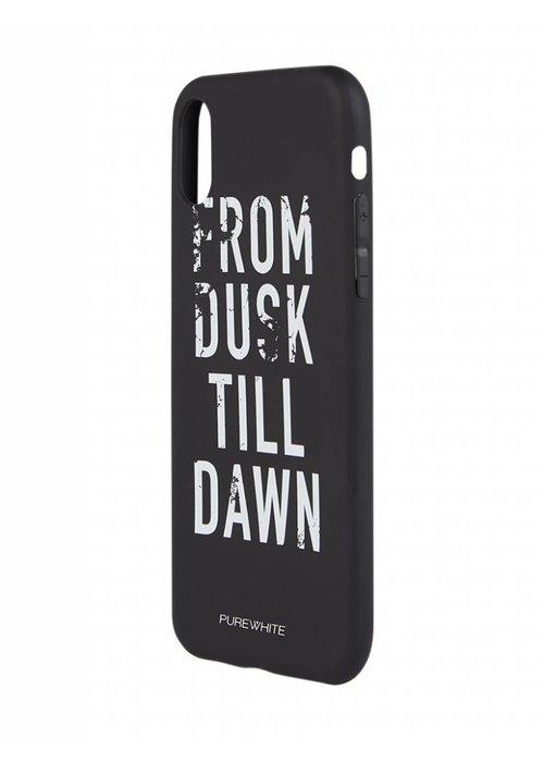 PUREWHITE 'DUSK TILL DAWN' IPHONE X CASE  BLACK