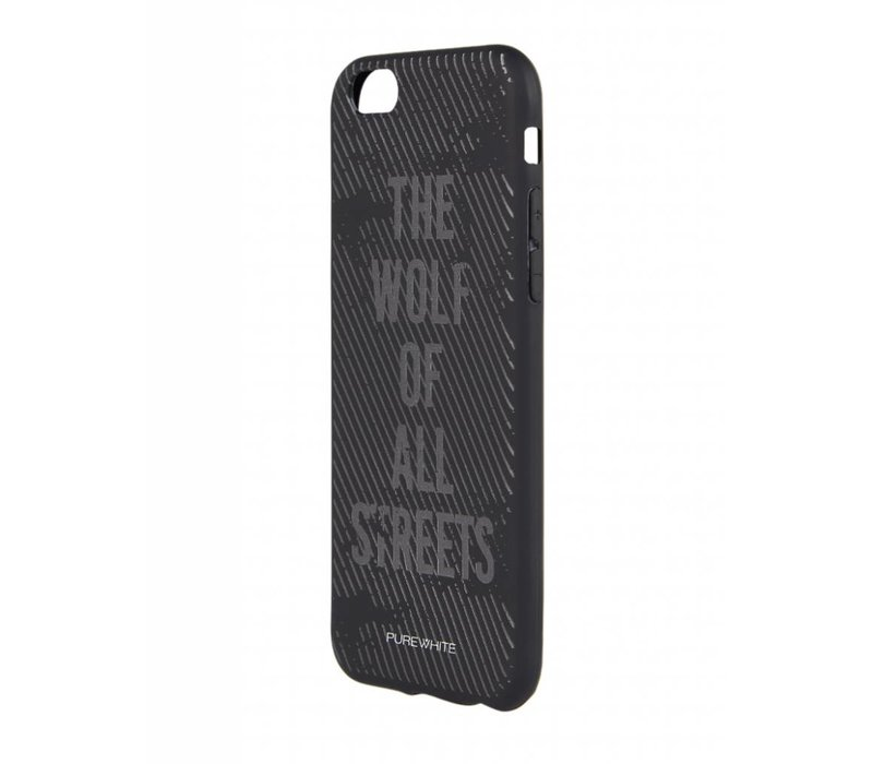 PUREWHITE 'WOLF OF ALL STREETS' IPHONE 6 CASE  BLACK