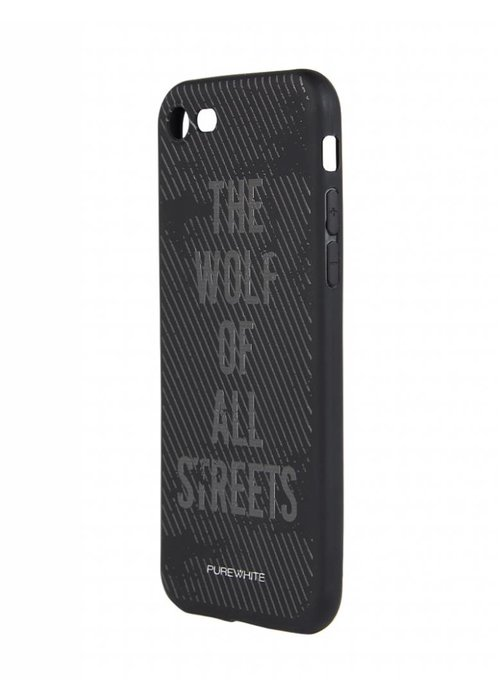 PUREWHITE 'WOLF OF ALL STREETS' IPHONE 7 CASE  BLACK