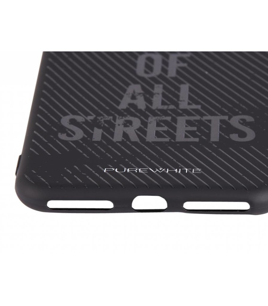 PUREWHITE 'WOLF OF ALL STREETS' IPHONE 7/8 PLUS CASE  BLACK