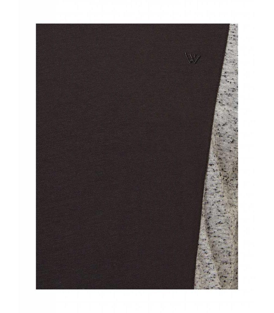 PUREWHITE TWO-TONE T-SHIRT BLACK/GREY