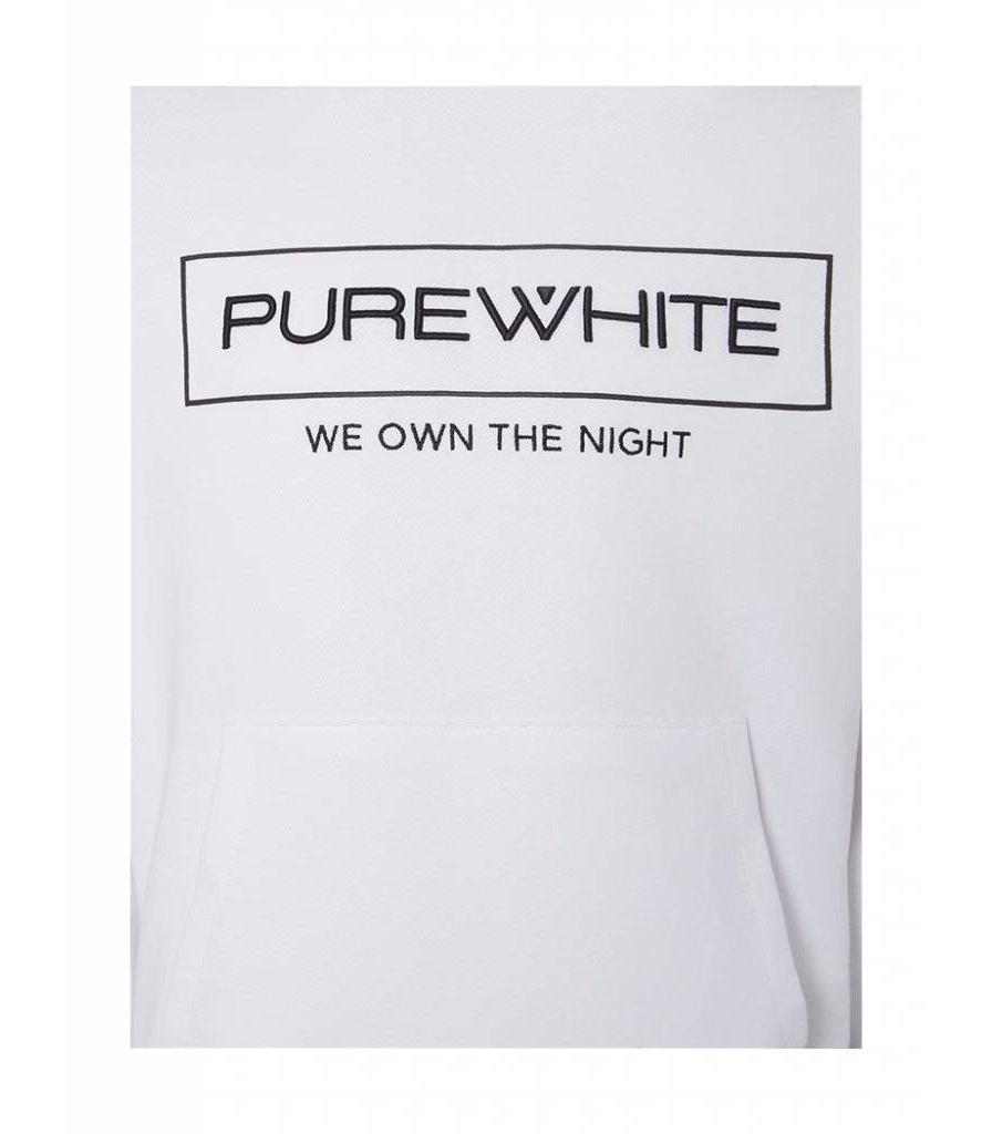 PUREWHITE 'WE OWN THE NIGHT' LOGO HOODIE WHITE