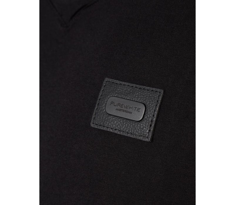 PUREWHITE ESSENTIAL V-NECK LONGSLEEVE BLACK
