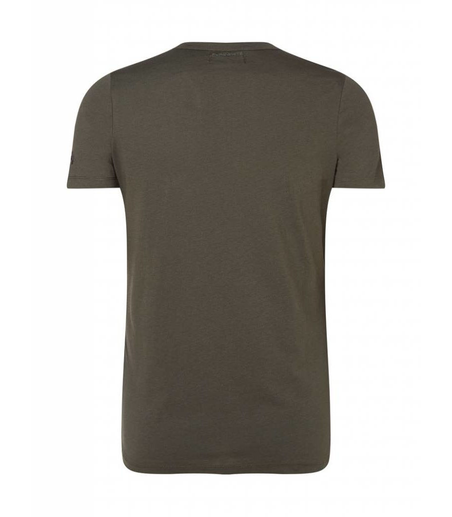 PUREWHITE RUBBERIZED T-SHIRT ARMY