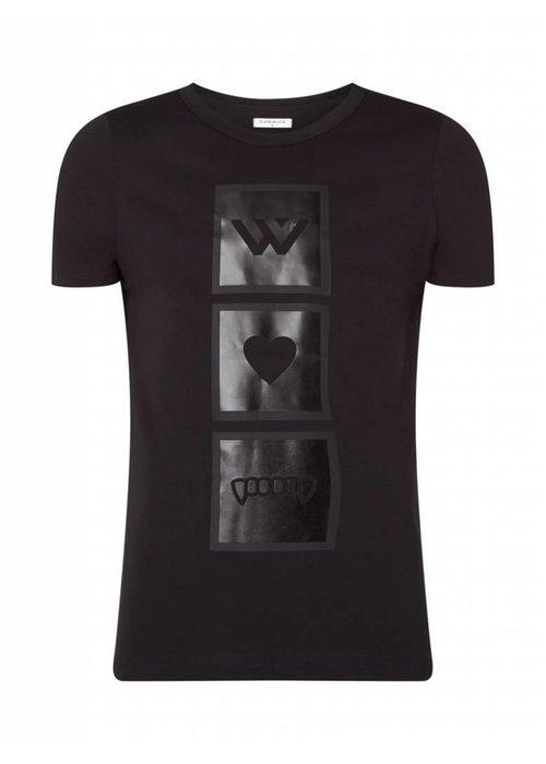 PUREWHITE RUBBERIZED T-SHIRT BLACK